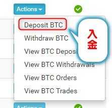 CoinExchange入金方法3