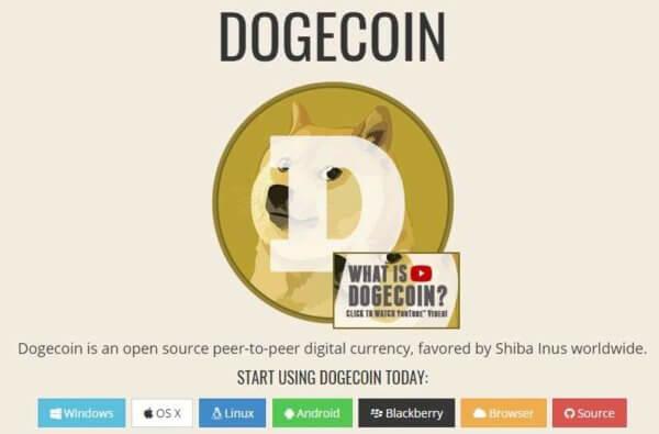 ドージコイン公式サイト