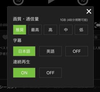 Huluは字幕英語設定が可能