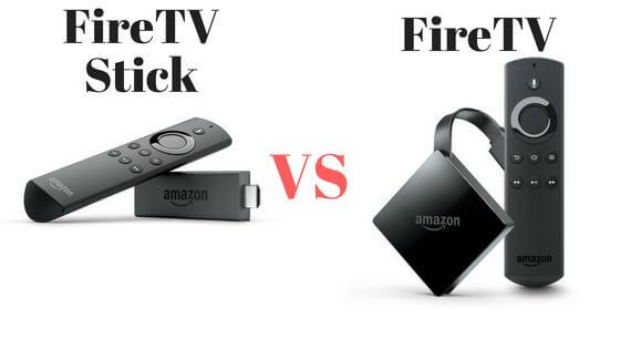 Fire TVとFire TV Stickの比較