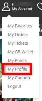 GearBestでプロフィールを表示する