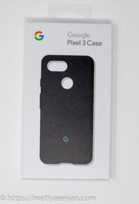 Pixel3ファブリックケース ブラックの外箱